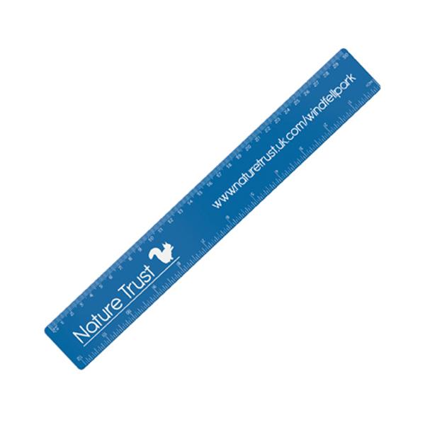 30cm PP Colour Ruler in blue
