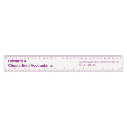 30cm PP Colour Ruler in clear