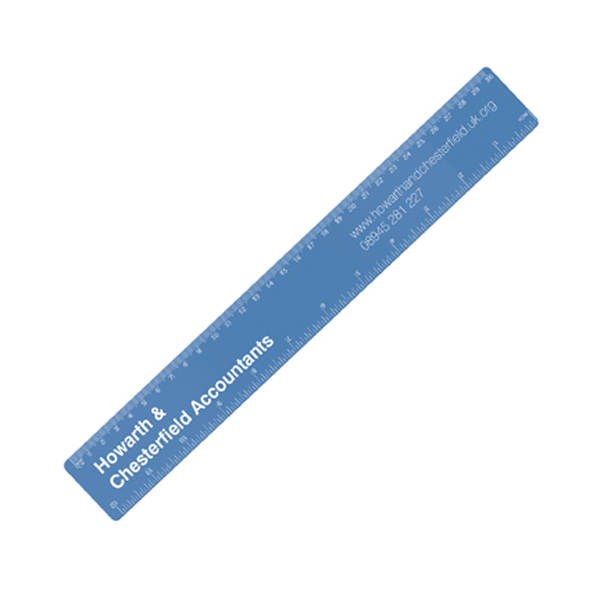 30cm PP Colour Ruler in frost-blue