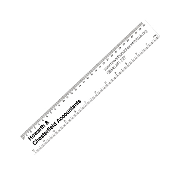 30cm PP Colour Ruler in frost-clear