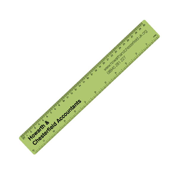 30cm PP Colour Ruler in frost-lime-green