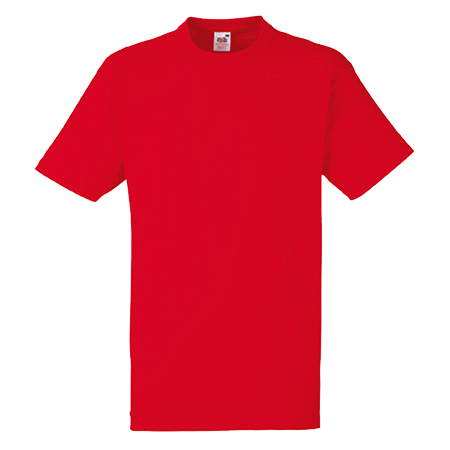 Heavy Cotton T-Shirt in red