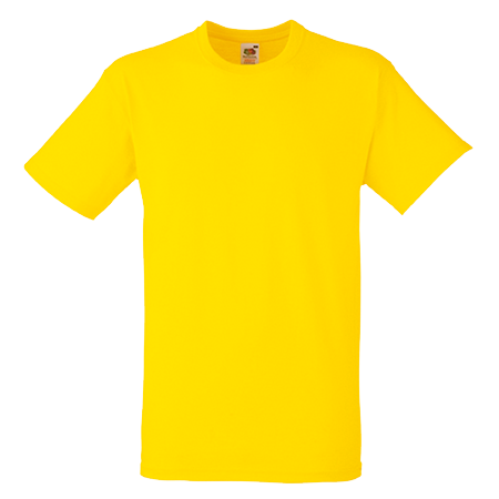 Heavy Cotton T-Shirt in yellow