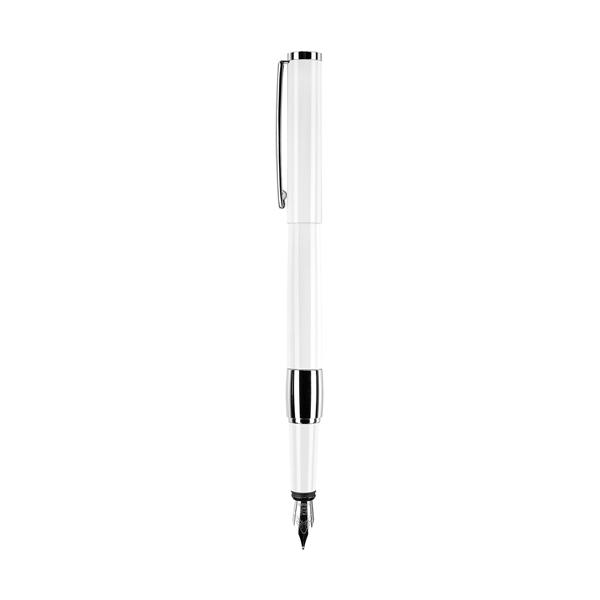 Senator Image White Line Metal Fountain Pen