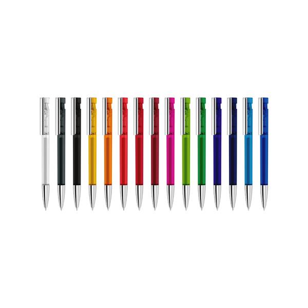 Senator Liberty Clear Plastic Pens With Metal Clip & Metal Nose Cone