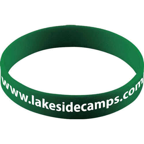 Silicone Wristband With Aluminium Patch in green