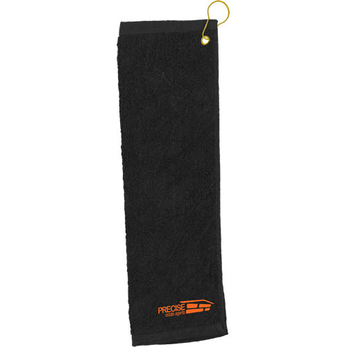 Golf Pro Towel Stitched in white
