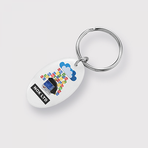 Double Domed Key Ring Oval