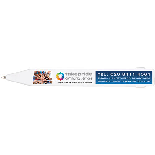 Magnet Pen (full Colour Print) in white