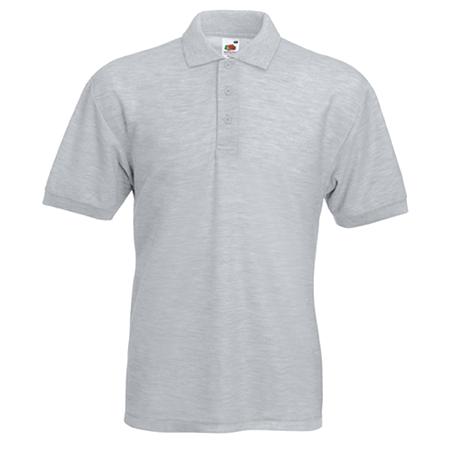 Pique Polo Shirt in heather-grey