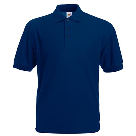 Pique Polo Shirt in navy