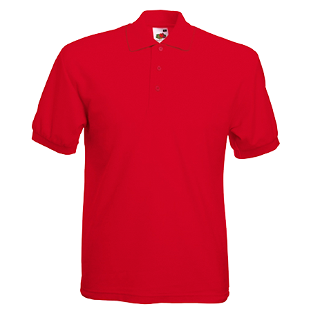 Pique Polo Shirt in red