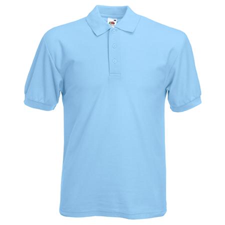 Pique Polo Shirt in sky-blue