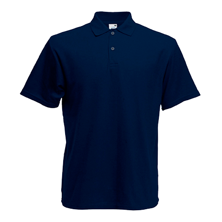 Kids Pique Polo Shirt in deep-navy