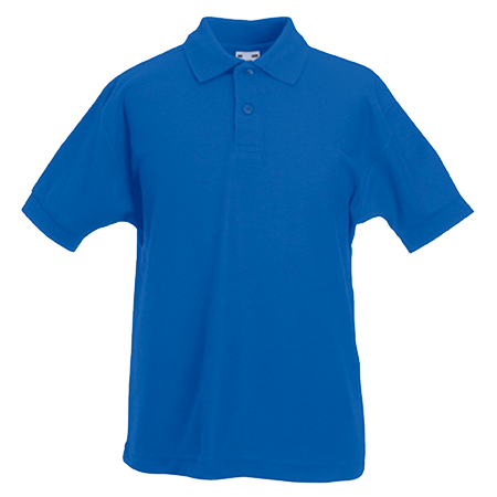 Kids Pique Polo Shirt in royal-blue