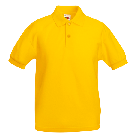 Kids Pique Polo Shirt in sunflower