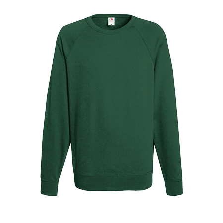 Lightweight Raglan Sweatshirt in bottle-green