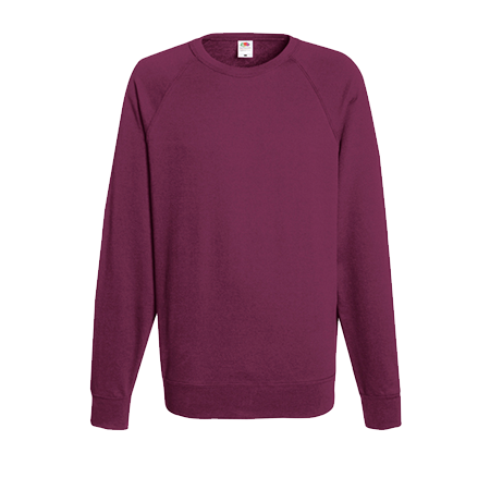 Lightweight Raglan Sweatshirt in burgundy