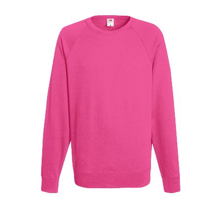 Lightweight Raglan Sweatshirt in fuchsia