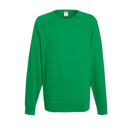 Lightweight Raglan Sweatshirt in kelly-green