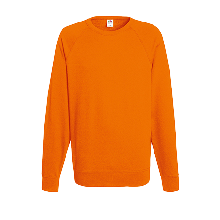 Lightweight Raglan Sweatshirt in orange