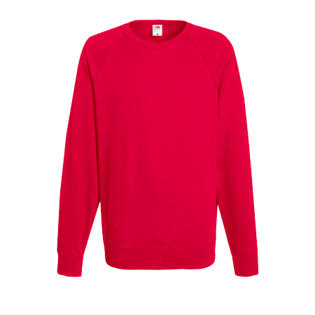 Lightweight Raglan Sweatshirt in red