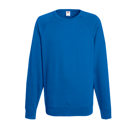 Lightweight Raglan Sweatshirt in royal-blue