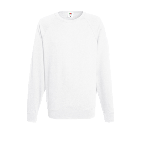 Lightweight Raglan Sweatshirt in white