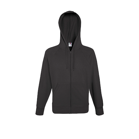 Lightweight Zip Hooded Sweatshirt in light-gaphite
