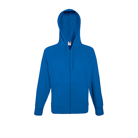 Lightweight Zip Hooded Sweatshirt in royal-blue