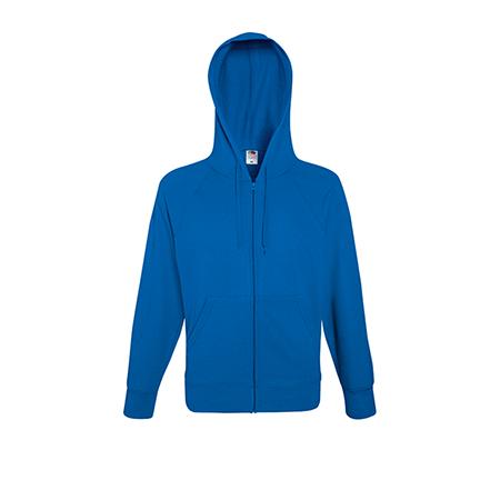Lightweight Zip Hooded Sweatshirt in royal-blue
