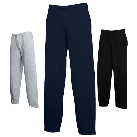 Open Hem Jog Pants in heather-grey