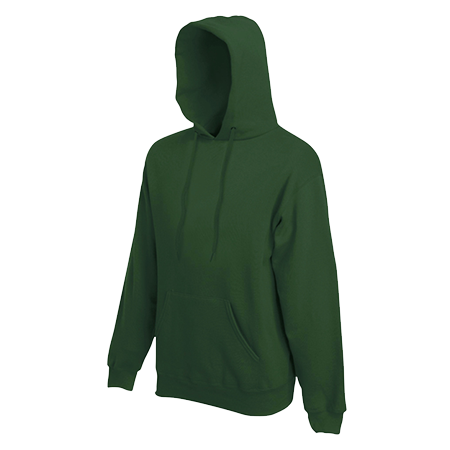 Hooded Sweatshirt in bottle-green