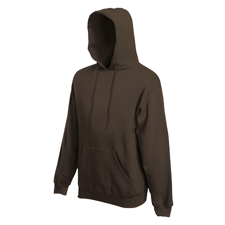 Hooded Sweatshirt in chocolate