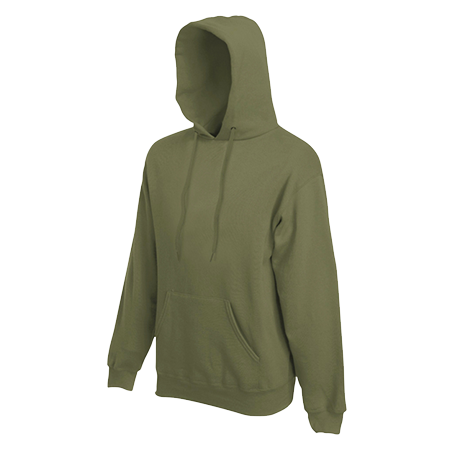 Hooded Sweatshirt in classic-olive