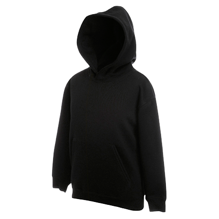 Kids Hooded Sweatshirt in black