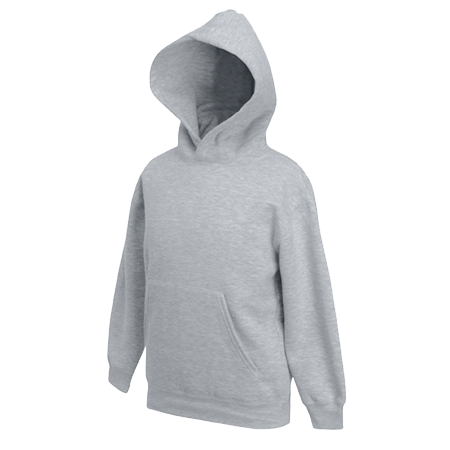 Kids Hooded Sweatshirt in heather-grey