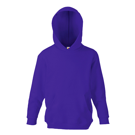 Kids Hooded Sweatshirt in purple