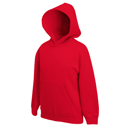 Kids Hooded Sweatshirt in red