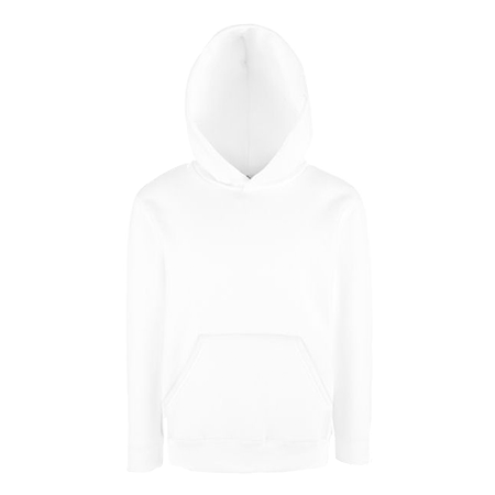 Kids Hooded Sweatshirt in white