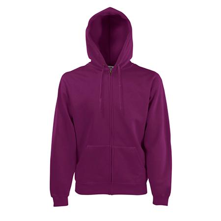 Zip Hooded Sweatshirt in burgundy