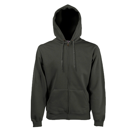 Zip Hooded Sweatshirt in charcoal