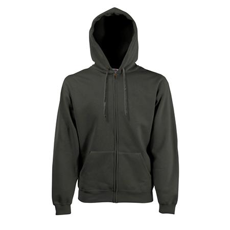 Zip Hooded Sweatshirt in charcoal