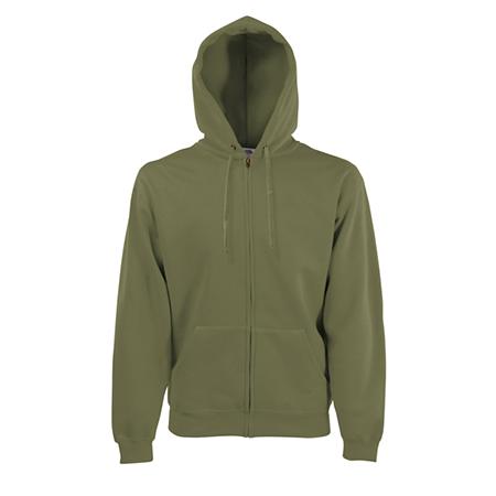 Zip Hooded Sweatshirt in classic-olive