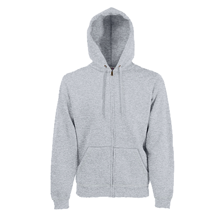 Zip Hooded Sweatshirt in heather-grey