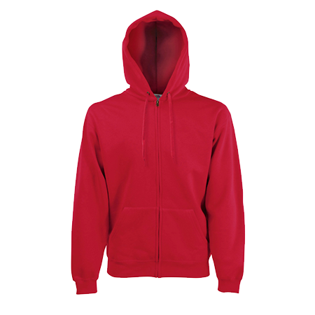 Zip Hooded Sweatshirt in red