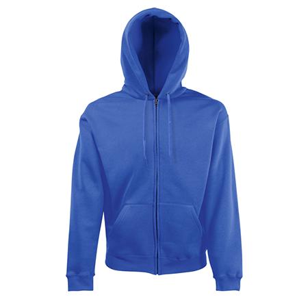 Zip Hooded Sweatshirt in royal-blue
