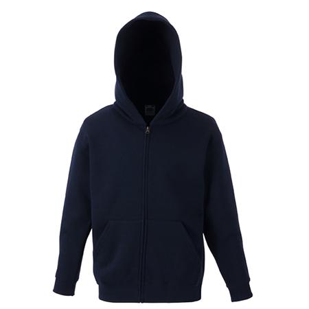 Kids Zip Hooded Sweatshirt in deep-navy