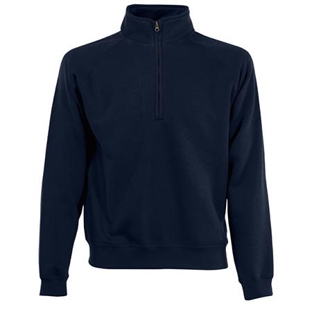 Zip Neck Sweatshirt in deep-navy