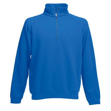 Zip Neck Sweatshirt in royal-blue